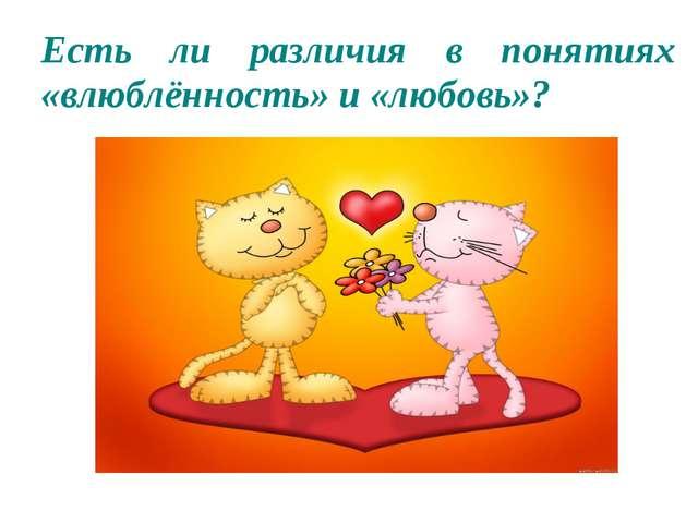 Есть ли различия в понятиях «влюблённость» и «любовь»?