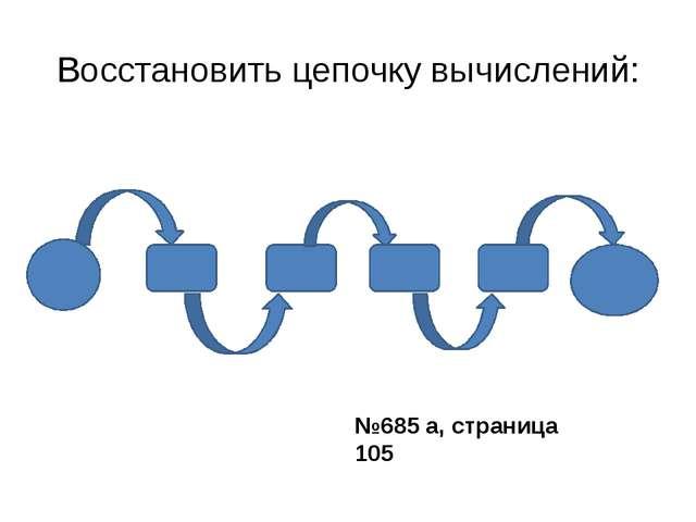 Восстановить цепочку вычислений: