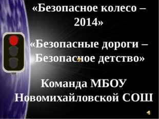 «Безопасные дороги – Безопасное детство» «Безопасное колесо – 2014» Команда М