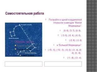 Самостоятельная работа Презентацию «Легенда о созвездиях» подготовил Алиев Ма