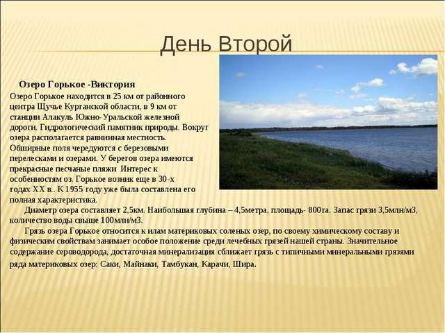 День Второй Озеро Горькое -Виктория Озеро Горькое находится в 25 км от районн...