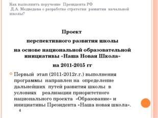Как выполнить поручение Президента РФ Д.А. Медведева о разработке стратегии р