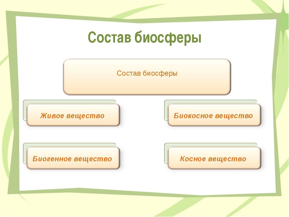 Состав биосферы Передельская Т.В.