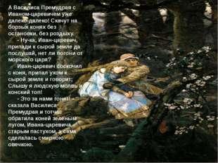 А Василиса Премудрая с Иваном-царевичем уже далеко-далеко! Скачут на борзых к