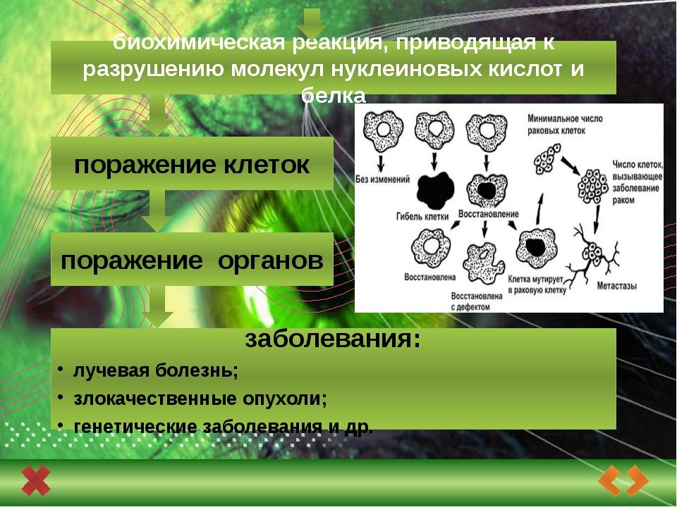 Классификация возможных последствий облучения: соматические Соматико-стохасти...