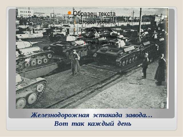 Железнодорожная эстакада завода… Вот так каждый день