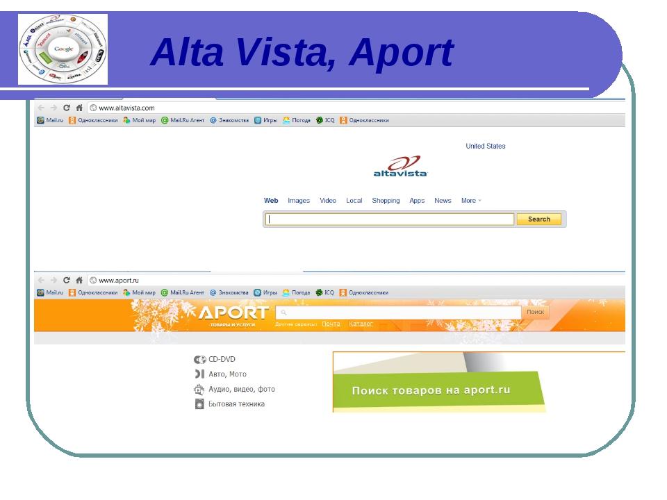 Alta Vista, Aport