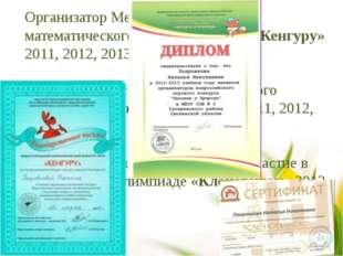 Организатор Международного математического конкурса – игры «Кенгуру» 2011, 20