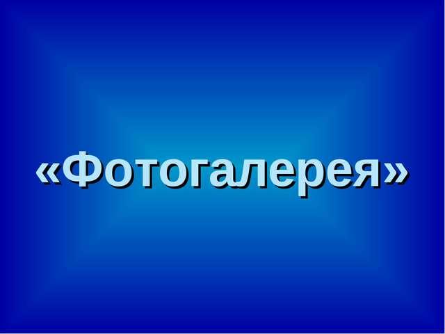 «Фотогалерея»