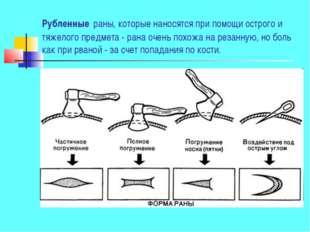 Рубленные раны, которые наносятся при помощи острого и тяжелого предмета - ра