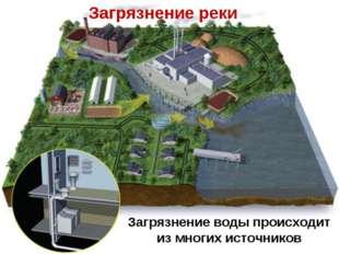 Загрязнение воды происходит из многих источников Загрязнение реки