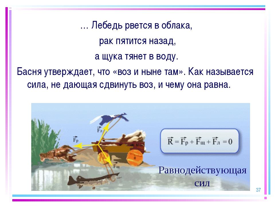 * … Лебедь рвется в облака, рак пятится назад, а щука тянет в воду. Басня утв...
