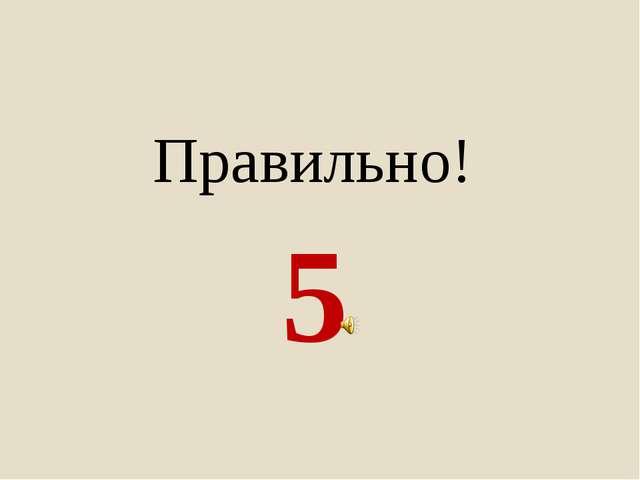 5 Правильно!