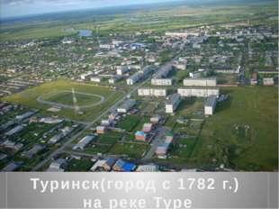 Туринск(город с 1782 г.) на реке Туре