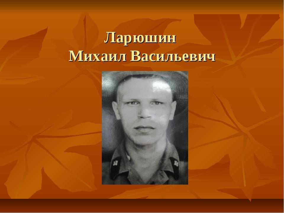 Ларюшин Михаил Васильевич