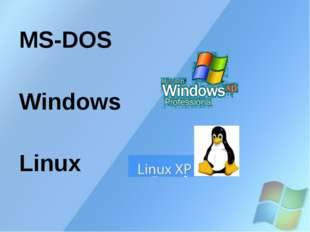 MS-DOS Windows Linux