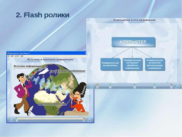 2. Flash ролики