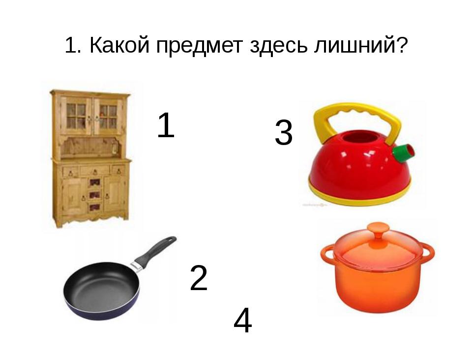 1. Какой предмет здесь лишний? 1 3 2 4