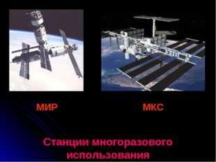 МИР МКС Станции многоразового использования