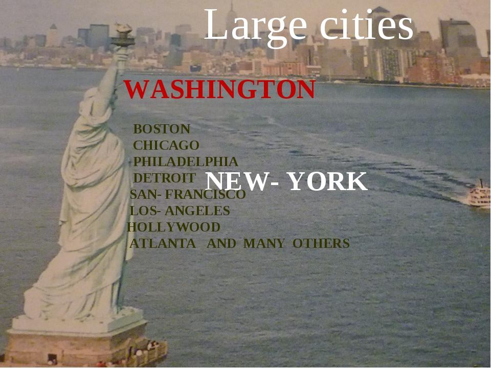 NEW- YORK WASHINGTON BOSTON CHICAGO PHILADELPHIA DETROIT SAN- FRANCISCO LOS-...
