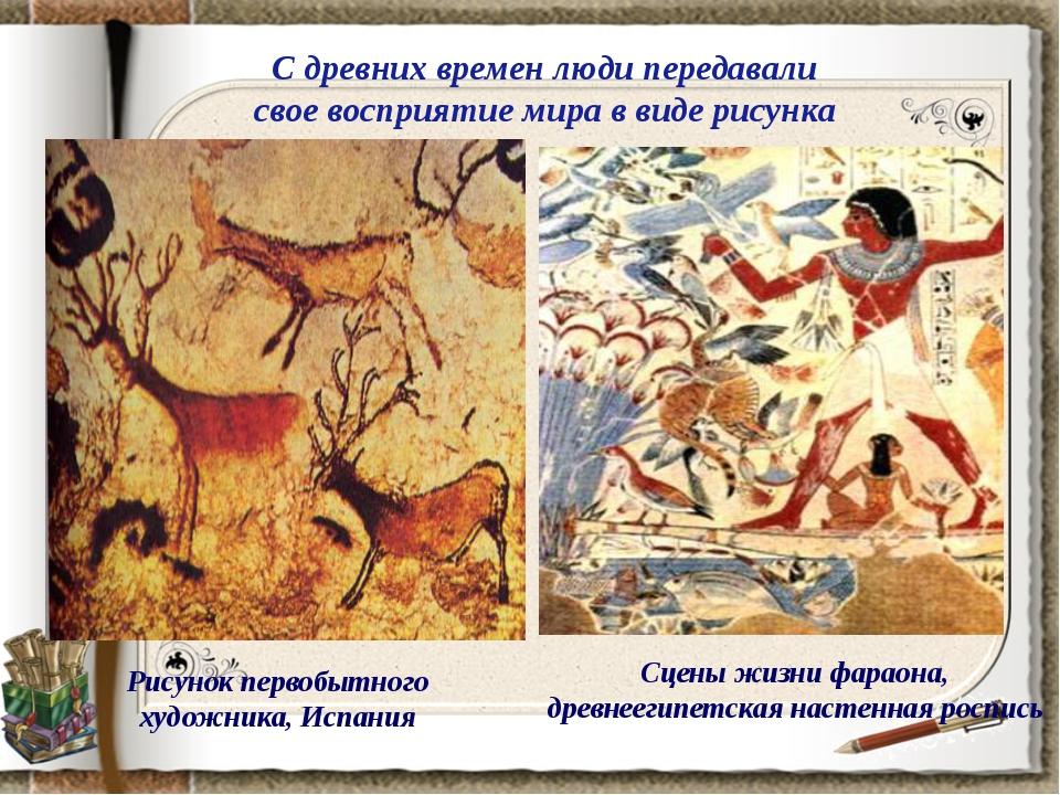 Рисунок первобытного художника, Испания С древних времен люди передавали свое...