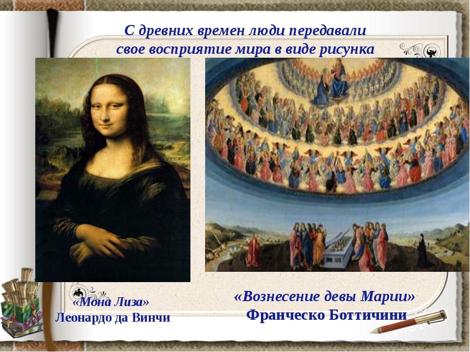 С древних времен люди передавали свое восприятие мира в виде рисунка «Мона Ли...