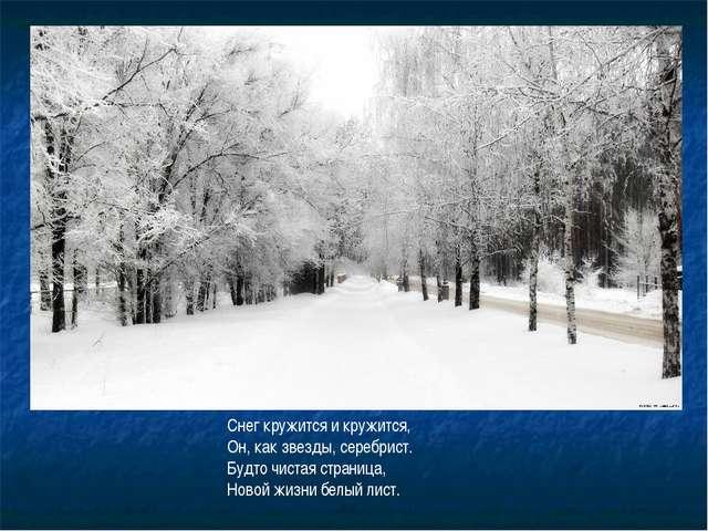 Снег кружится и кружится, Он, как звезды, серебрист. Будто чистая страница, Н...