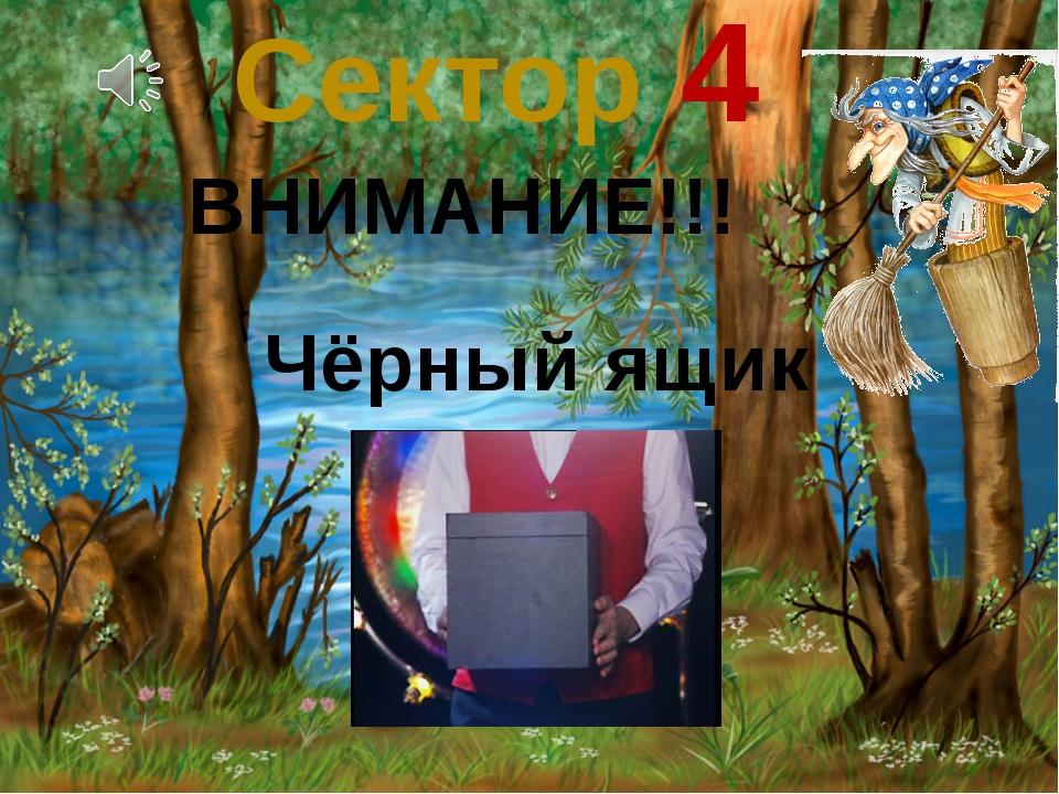 Сектор 4 Чёрный ящик ВНИМАНИЕ!!!