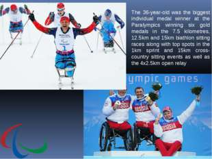 The 36-year-old was the biggest individual medal winner at the Paralympics wi