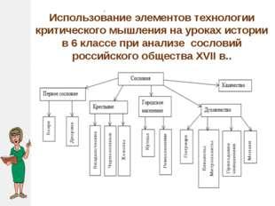 . Использование элементов технологии критического мышления на уроках истории