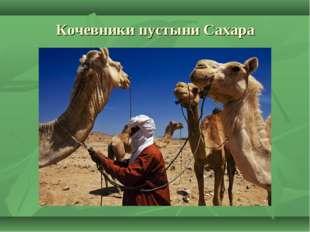 Кочевники пустыни Сахара