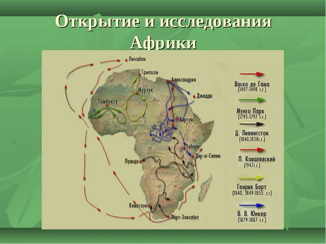 Открытие и исследования Африки