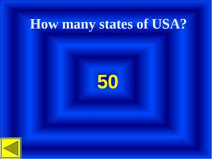 How many states of USA? 50