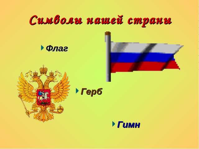 Символы нашей страны Флаг Герб Гимн