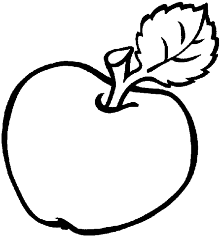 Яблоко, раскраска