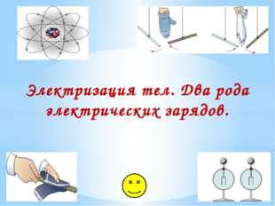 Электризация тел. Два рода электрических зарядов.
