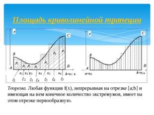 Теорема. Любая функция f(х), непрерывная на отрезке [a;b] и имеющая на нем ко