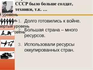 У фашистов в начале войны с СССР было больше солдат, техники, т.к. … Долго го