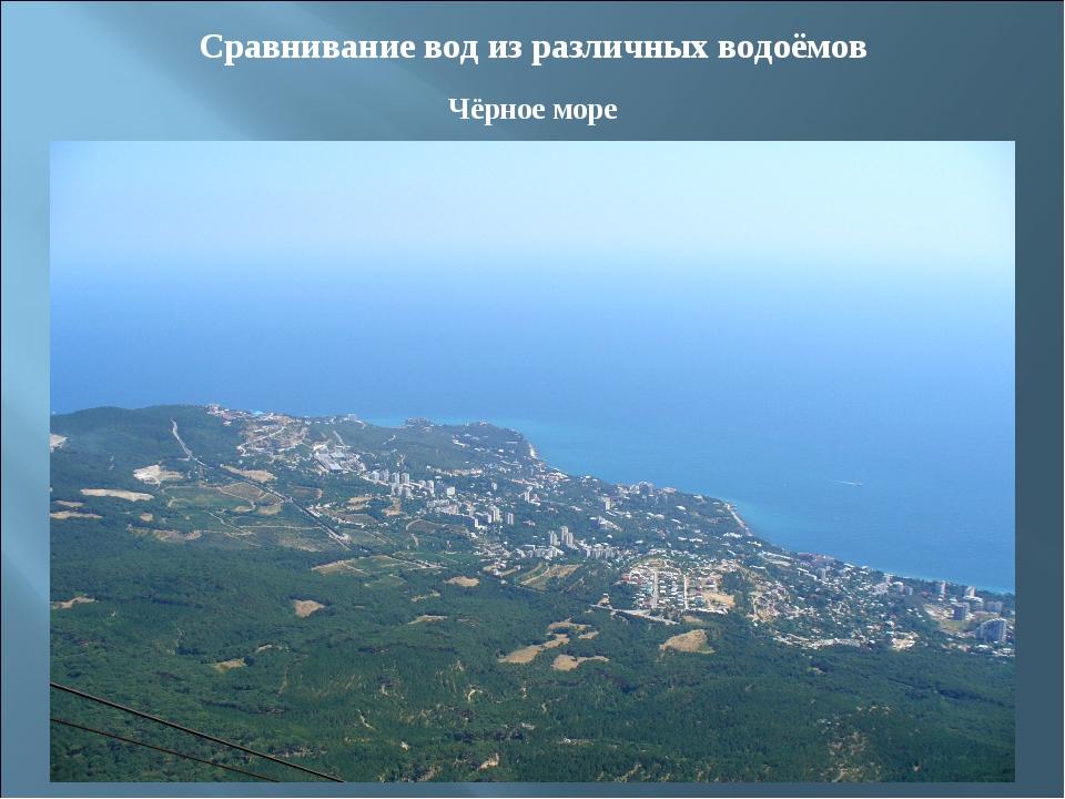 Сравнивание вод из различных водоёмов Чёрное море