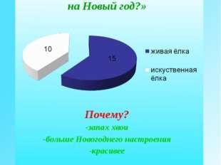 Мнение одноклассников «Какую ёлку вы предпочитаете на Новый год?» Почему? зап