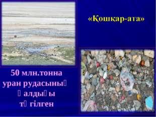 50 млн.тонна уран рудасының қалдығы төгілген