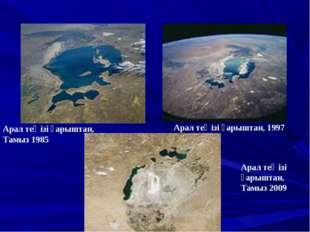 Арал теңізі ғарыштан, Тамыз 1985 Арал теңізі ғарыштан, 1997 Арал теңізі ғарыш
