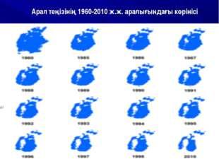 Арал теңізінің 1960-2010 ж.ж. аралығындағы көрінісі