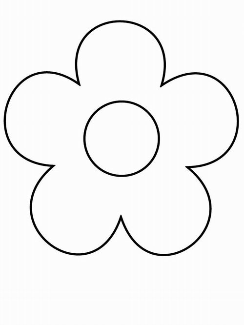 Раскраска Цветок с большой серединой