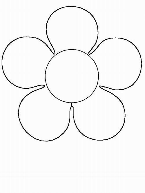 Раскраска Контур цветка
