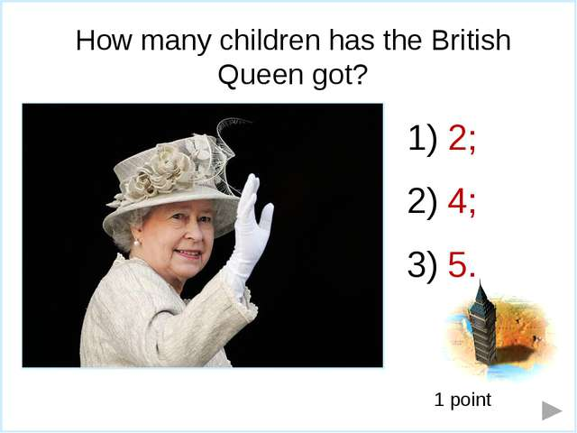 What does the front of the British pound banknote depict? Queen Elizabeth II...