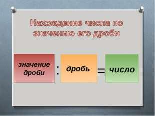 : = число значение дроби дробь