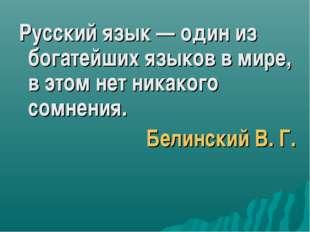 Русский язык — один из богатейших языков в мире, в этом нет никакого сомнени
