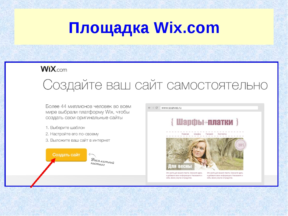 Площадка Wix.com