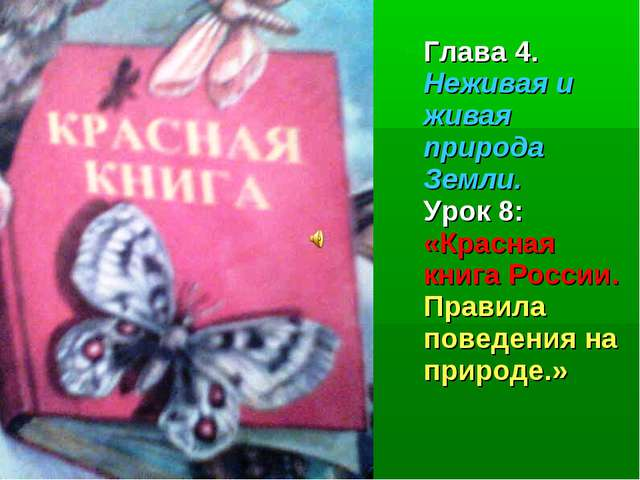 Глава 4. Неживая и живая природа Земли. Урок 8: «Красная книга России. Правил...